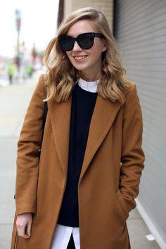 Keep it classic. The perennial camel coat.