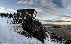 Kongsfjord wind shelter & bird hide. Architect: Biotope.