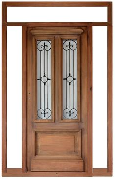 fantástica puerta de entrada Door Gate Design, Main Door Design, Front Door Design, Arched Doors, Entrance Doors, Windows And Doors, Exterior House Colors, Exterior Doors, Home Fencing