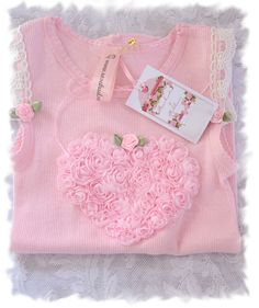 Rosebuds and ribbons Baby singlet