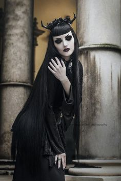 Model: Obsidian Kerttu Photo: Martina Špoljarić photography Blouse: Punkrave from The Gothic Shop Antlers: Hysteria Machine Welcome to Gothic and Amazing |www.gothicandamazing.org