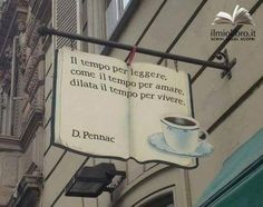 Books and coffee:Biblioteca de Alcolea del Río the time to read, as the time to love, dilates the time to live Got Books, I Love Books, Books To Read, Reading Books, Storefront Signs, Quotes Thoughts, Book Cafe, Pub Signs, Store Signs