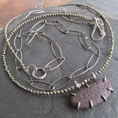 Short Beach Stone Necklace Brown Double Multi Strand Choker