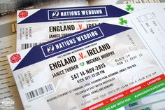 rugby ticket wedding invites http://www.wedfest.co/ireland-vs-england-rugby-ticket-wedding-invitations/