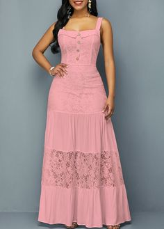 Pink Graduation Maxi Dress 2019 Cotton Dress Square Neck Dress Button Detail Sleeveless Open Back Lace Dress Source by yeisonpitti dresses Sexy Dresses, Cute Dresses, Casual Dresses, Summer Dresses, Dresses Dresses, Party Dresses, Awesome Dresses, African Fashion Dresses, Fashion Outfits