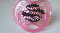 Pink and Black Swarovski Crystal zebra pacifier! by bees baby boutique on etsy.com