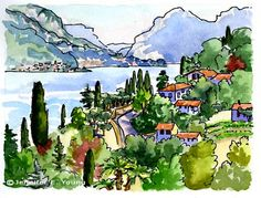 painting of Lake Como Italy
