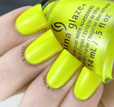 China Glaze - Daisy Know My Name? swatch - Electric Nights Summer 2015 Colletion - IG @GameNGloss
