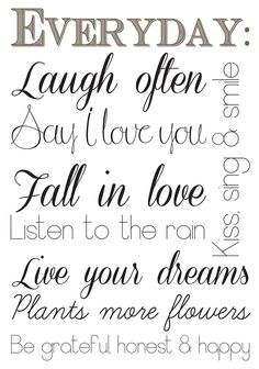 Everyday Quotes Wall Decal