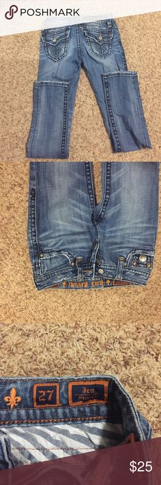 Rock revivals Rock revival jeans. Straight leg. I got these from another posher but they didn't fit me but are really cute. I'm open to offers :) Rock Revival Jeans Straight Leg