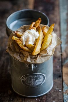 Homemade French fries.