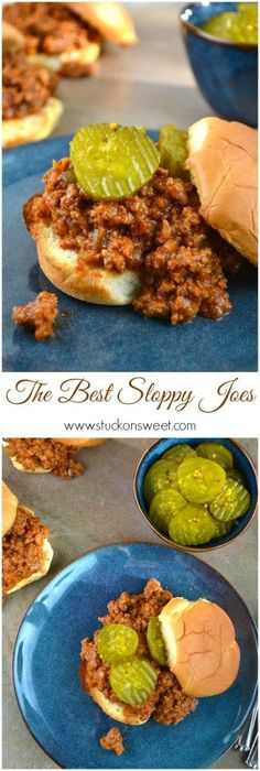 The Best Sloppy Joe's Recipe Ever. Dinner is ready quickly with this recipe and the leftovers are so good!   www.stuckonsweet.com