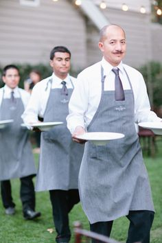 Casual chic cater waiter uniforms