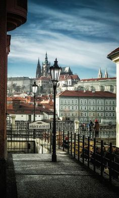 The castle of Prague, Czechia, from Old Town quay #view #photo #czechcity #Czechia #Prague #praguecastle #city #cityscape
