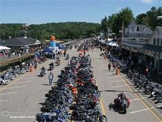 Laconia Motorcycle Week, New Hampshire June 2013 Laconia Bike Week, State Mottos, Motorcycle Events, Hot Bikes, New Hampshire, New England, Places Ive Been, Dolores Park, Street View
