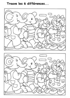 jeu des 7 erreurs à imprimer Free Coloring Pages, Coloring For Kids, Coloring Books, Craft Activities For Kids, Book Activities, Paper Games, Hidden Pictures, Hidden Objects, Preschool Education