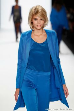 OMG Luisa Hartema hair and makeup are PERFECT #BFW #BerlinFashionWeek (Riani Show) ..this site has a how to for the hair
