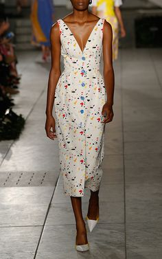 Confetti Column Midi Dress by CAROLINA HERRERA for Preorder on Moda Operandi