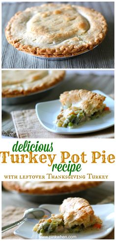 Thanksgiving leftovers are repurposed to make this tasty Turkey Pot Pie. You'll be thankful you saved this recipe for the holidays!