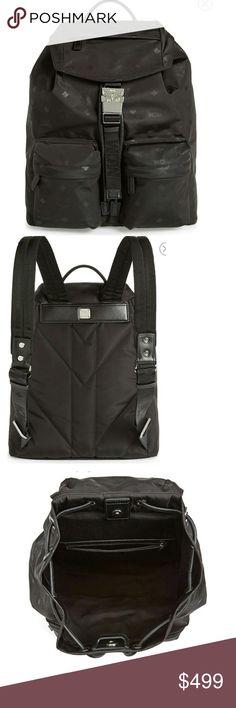 MCM Small Dieter Monogrammed Nylon Backpack Brand New! Color black. MCM Bags Backpacks