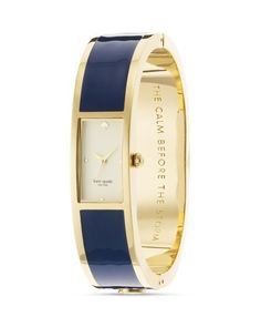 """Kate Spade watch in gold and navy, """"The calm before the storm"""""""
