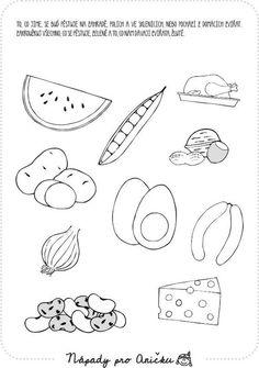 Pracovní list - Jídlo V. | Nápady pro Aničku.cz Primary School, Mojito, Worksheets, Place Card Holders, Symbols, Kids, Pictures, Activities, Photos