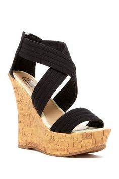 If Carrini Fabric Strap Wedge Sandal by Assorted on @HauteLook