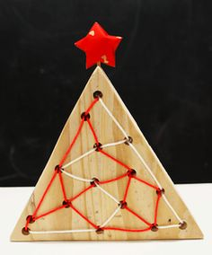things to make finger knitting | Make This Christmas Tree Lacing Toy - Things to Make and Do, Crafts ...