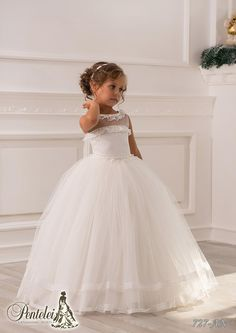 Easter Dress Lace Sheer Neck Ball Gown Tulle Iovry Baby Girl Birthday Party Christmas Princess Dresses Children Girl Party Dresses Flower Girl Dresses Flower Girl Dresses Cheap From Weddingmall, $46.33| Dhgate.Com