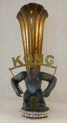 Kong. Laurent Jacquy,sculpture,assemblage,art modeste,art singulier. Modestes et hardis