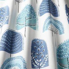Scandi Wood Fabric Indigo