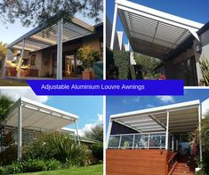 Adjustable Aluminium Louvre Awnings come in many shapes & sizes