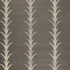 Schumacher - Acanthus Stripe Shadow wallpaper