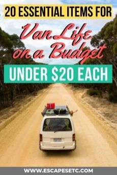 20 Budget Campervan Packing List Essentials unter 20 US-Dollar Budget Travel, Travel Tips, Rv Travel, Travel Packing, Travel Essentials, Travel Destinations, Roadtrip Australia, Camper Van Life, Camper List