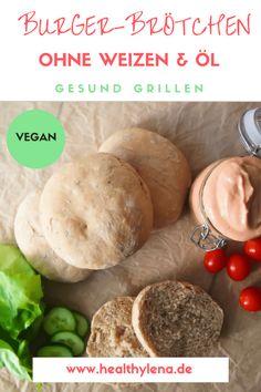 vegane burger-brötchen gesund ohne Weizen fettarm vegan