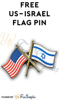 FREE US-Israel Flag Pin [Verified Received By Mail]
