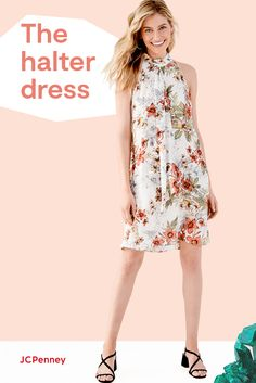 When it comes to spring's effortless one-and done outfits, there's nothing quite like a fresh floral dress by Worthington. And this season, all our faves are coming up in a modern halter style! Choose one (or more) from JCPenney in prints you'll love to pick and silhouettes that are simply a breeze. They show JUST enough skin to get anyone excited about feeling the sunshine on their shoulders. Spring Dresses, Spring Outfits, Minimal Wardrobe, Signature Look, Modern Photography, Pretty Pastel, Spring Style, New Outfits, Silhouettes