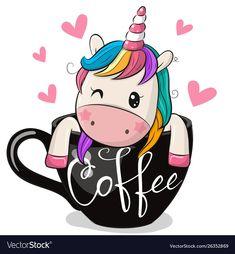 Cartoon Unicorn is sitting in a Cup of coffee. Cute Cartoon Unicorn is sitting in a Cup of coffee royalty free illustration Unicorn Drawing, Cartoon Unicorn, Owl Cartoon, Unicorn Art, Cute Unicorn, Cute Cartoon, Unicorn Wallpaper Cute, Cartoon Mignon, Unicornios Wallpaper