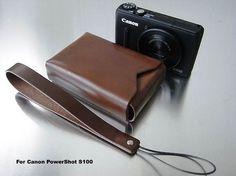 □Canon PowerShot S100用のレザーケースを作りました。□シンプルです。レザーの箱です。□金具などもあえて付けませんでした。□フタは差し込む方... ハンドメイド、手作り、手仕事品の通販・販売・購入ならCreema。