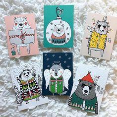 Käykäähän osallistumassa Facebookin puolella arvontaan ja äänestämässä joulun paras korttisarja! Joulukorttivalikoimassamme myös nämä Mira Malliuksen veikeät uutuudet!  Hauskaa viikonloppua!  #joulukortit #joulukortti