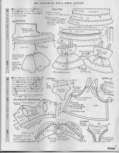 Barbie Clothes Patterns, Sewing Doll Clothes, Doll Clothes Barbie, American Doll Clothes, Doll Dress Patterns, Vogue Sewing Patterns, Sewing Dolls, Clothing Patterns, Blythe Dolls