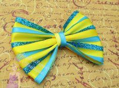 The little Mermaid hair bow Flounder hair clip disney inspired ariel girls teen woman accessories cute