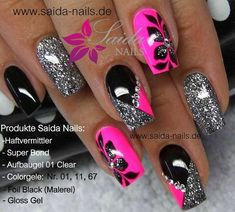 What manicure for what kind of nails? - My Nails Colorful Nail Designs, Acrylic Nail Designs, Cute Nail Designs, Beautiful Nail Designs, Fingernail Designs, Fancy Nails, Bling Nails, Pretty Nails, Pink Nail Art