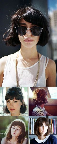 From bobs to pixie cuts, shorter hairstyles using a foundation of fairly short choppy haircuts result in. Short Bob Haircuts, Summer Hairstyles, Hairstyles With Bangs, Trendy Hairstyles, Short Hairstyles For Women, Girl Hairstyles, Hairstyles 2016, Medium Hairstyles, Amazing Hairstyles