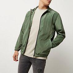 Green Only & Sons zip jacket Rain Jacket, Bomber Jacket, Mens Raincoat, Men's Coats And Jackets, Sons, Windbreaker, Blazer, Zip, Denim
