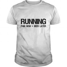 Cool Running Pain Now Beer Later Womens TShirts  Womens TShirt T-Shirts