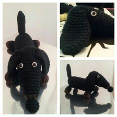 Perro salchicha (teckel) amigurumi