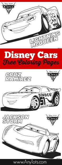 Free Printable Disney Cars Coloring Pages Lightning McQueen Jackson Storm And Cruz Ramirez Plus Bonus 3 Bookmark Use Them As A Kids Activity