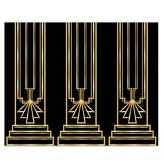 Give your party room a Great Gatsby-style touch with our Gangster Super value for Gatsby & Gangster party supplies at Discount Party Supplies. Fiesta Art Deco, Art Deco Party, Party Decoration, 1920s Decorations, Gangster Party, Bonny Und Clyde, Costume Alice, Thema Deco, Party Kulissen