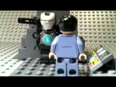 Lego Iron Man Rhody's visit